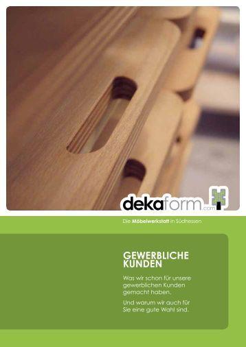 Gewerbliche Kunden - dekaform.com