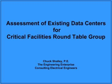 Assessment of Existing Data Centers - Critical Facilities Round Table