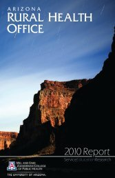 Download the 2010 Report - Arizona Center for Rural Health