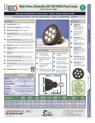 High-Power, Dimmable LED 18W PAR38 Flood Lamps - Ledtronics ...