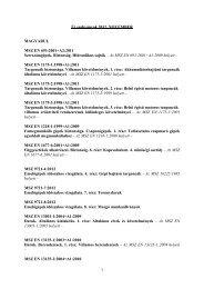 1 Új szabványok 2012. NOVEMBER MAGYARUL MSZ EN 693:2001 ...
