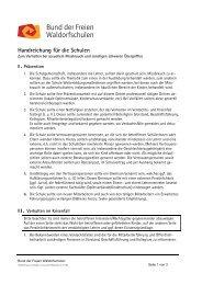 Handreichung für die Schulen - Bund der Freien Waldorfschulen