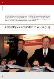 Chronologie einer perfekten Vereinigung - Nord-Ostsee Sparkasse
