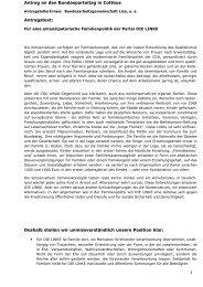 Antrag für eine emanzipatorische Familienpolitik 2. Tagung des 1 ...
