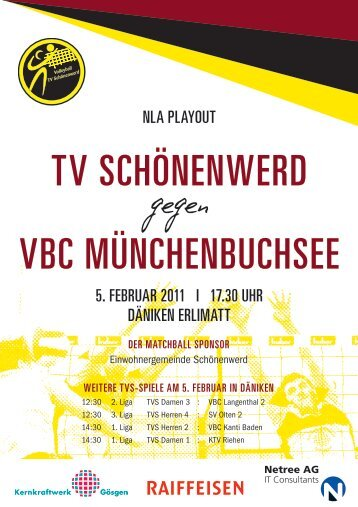 TV SCHöNENWERD VBC MüNCHENBUCHSEE