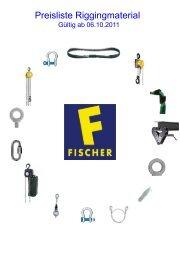 Preisliste Riggingmaterial - Fischer Vertriebsgesellschaft
