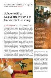 Das Sportzentrum der Universität Flensburg - Nord-Ostsee Sparkasse