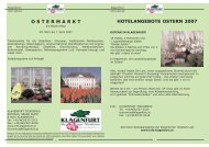 HOTELANGEBOTE OSTERN 2007 O S T E R M A R K T