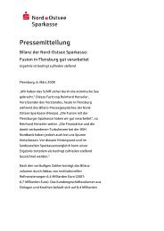Pressemitteilung - Nord-Ostsee Sparkasse