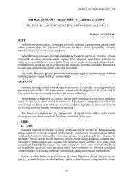 sayısal nivoların teknolojisi ve tarihsel gelişimi - Harita Genel ...
