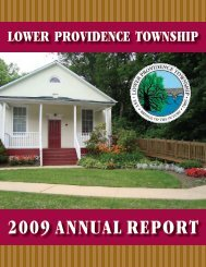 2009 annual report - Lower Providence Township