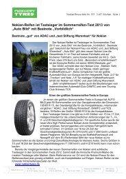Nokian-Reifen ist Testsieger im Sommerreifen-Test ... - Nokian Tyres