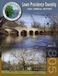 1 LOWER PROVIDENCE TOWNSHIP ANNUAL REPORT 2005