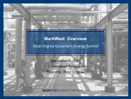 MarkWest Overview - West Virginia Department of Commerce