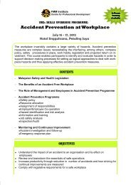 SMEs Accident Prevention at Workplace.pub - Federation of ...