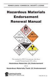 PennDOT - Hazardous Materials Endorsement Renewal Manual