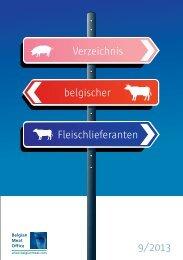 Verzeichnis belgischer Fleischlieferanten 9/2013 - Fresh from Belgium