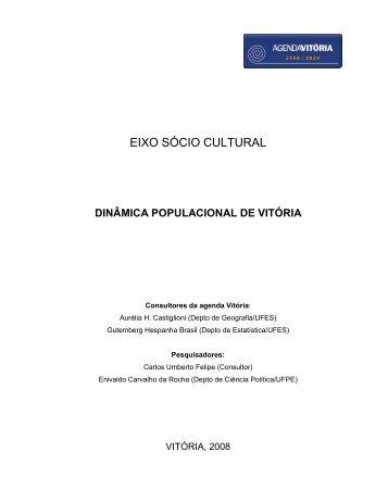 EIXO SÓCIO CULTURAL - Prefeitura de Vitória