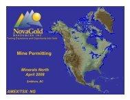 Mine Permitting - Minerals North
