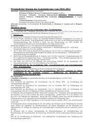 Protokoll der Sitzung des Gemeinderates vom 30.01.2012 - Lontzen