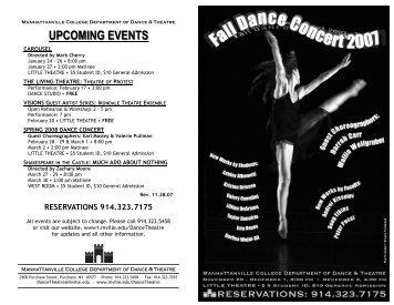 Fall 2007 Dance Concert - Mvilledth.org