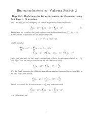 Hintergrundmaterial zur Vorlesung Statistik 2