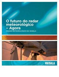 O futuro do radar meteorológico – Agora - Vaisala