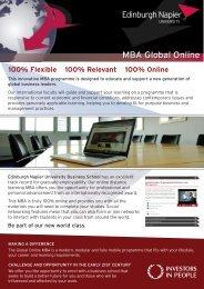 100% Flexible 100% Relevant 100% Online - Edinburgh Napier ...