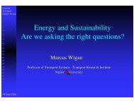 Energy and Sustainability Are we asking the right questions?