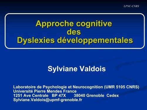 Dyslexie et apprentissage de la lecture - Institut des Sciences ...
