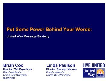 Put Some Power Behind Your Words: UW Message