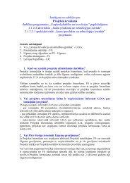Jautājumi atbildes par projekta ieviešanu JPI - LIAA