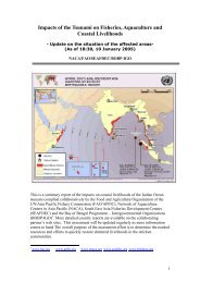 Impacts of the Tsunami on Fisheries, Aquaculture and ... - Library
