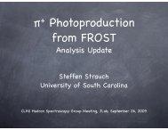 π+ Photoproduction from FROST - Hadronic Nuclear Physics Group