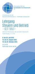 Lehrgang Steuern und Betr eb - Arbeitsgemeinschaft der ...
