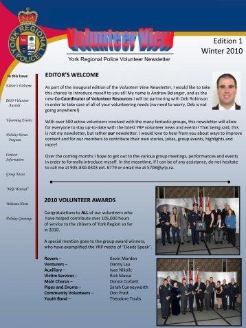 Edition 1 Winter 2010 - York Regional Police
