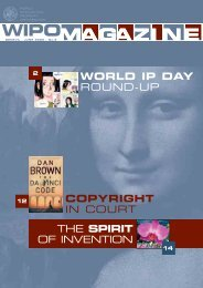 the spirit of invention copyright in court world ip day round-up - WIPO