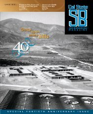 Volume 14 Issue 1 Fall/Winter 2005-06 News for Alumni and Friends ...