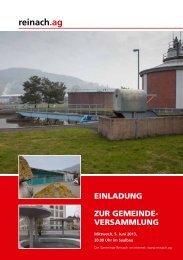 Einladung Rechnungs-Gemeindeversammlung vom 5 ... - Reinach