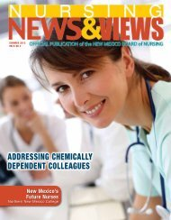 Newsletter Summer 2013 - the New Mexico Board of Nursing