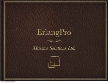 Massive Solutions Ltd. - Erlang Factory