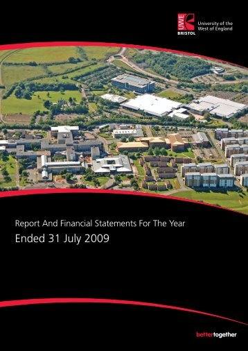 Report and Financial Statements Year Ended 31 July 2009