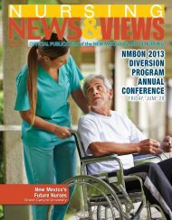 Newsletter Spring 2013 - the New Mexico Board of Nursing