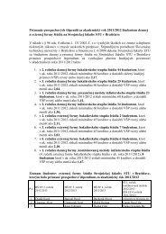 Priznanie prospechových štipendií za akademický rok 2011/2012 ...