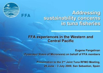 Addressing sustainability concerns in tuna fisheries - Tuna-org