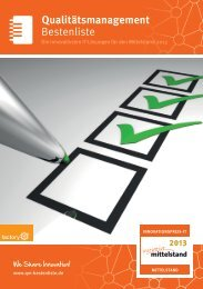 IT-Bestenliste Qualitätsmanagement 2013 (PDF) - Helling und Storch