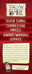 quick turns. competitive prices. award-winning service. - TAC Air