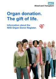 Organ donation. The gift of life.