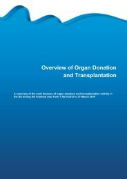 Section 2 - Overview of Organ Donation and Transplantation