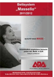 """""""Massello"""" Bettsystem 2011/2012 - Novo Home"""